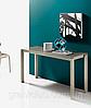 Раздвижной стол-консоль со стеклянной столешницей VEGA фабрика BONTEMPI (Италия)