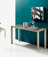 Раздвижной стол-консоль со стеклянной столешницей VEGA фабрика BONTEMPI (Италия), фото 1