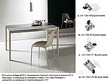Раздвижной стол-консоль со стеклянной столешницей VEGA фабрика BONTEMPI (Италия), фото 2
