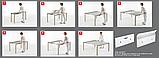 Раздвижной стол-консоль со стеклянной столешницей VEGA фабрика BONTEMPI (Италия), фото 3