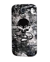 ICover Monochrome Skull cover case for Samsung i9500 Galaxy S IV, 01 (GS4-DEM-MS01)