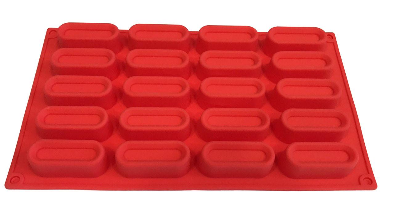 Форма силиконовая для выпечки  Евродесерт  20 шт на планшете