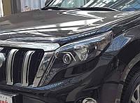 Передние фары Style черные Toyota Land Cruiser Prado 150 рестайлинг 2013+