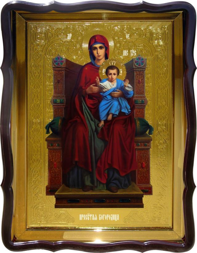 Икона в интернет магазине Пресвятой Богородицы на троне