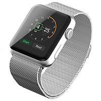Металлический Браслет для Apple watch 38 mm.Silver Milanese Loop (Миланская петля)