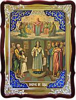 Православная икона на заказ Покров Пресвятой Богородицы 2