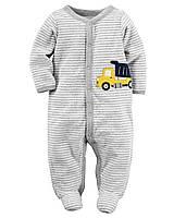Детский махровый человечек для мальчика  6, 9 месяцев