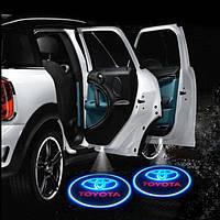 Светодиодная подсветка на двери с логотипом автомобиля