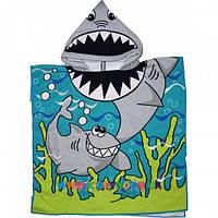 Полотенце-пончо с капюшоном Акула
