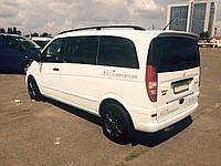 Рейлинги на крышу с пластиковыми креплениями Mercedes-Benz Vito / Viano W639 COMPACT 2004-2014 КОРОТКАЯ БАЗА цвет черный