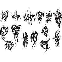 Лист для временной (переводной) татуировки №2312