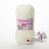 Пряжа Ricignole Fancy Yarn HM2.6, № 260, молочный