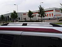 Рейлинги на крышу с пластиковыми креплениями Citroen Berlingo / Peugeot Partner 1996-2007 под хром (полированный алюминий)