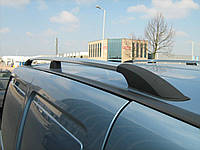Рейлинги на крышу с пластиковыми креплениями Fiat Doblo 2000-2006 / 2007- КОРОТКАЯ БАЗА, под хром (полированный алюминий)
