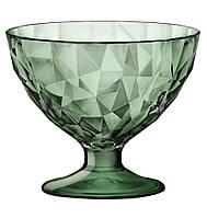 Креманка на ножке, стеклянная 220 мл. зеленная Diamond, Bormioli Rocco