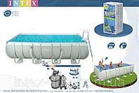 Каркасный бассейн Intex  400x200x100 СМ 54182 / 28350/28314+28644 Песочный фильтр-насос 4000 л/ч