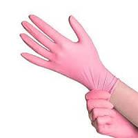 Перчатки нитриловые нестерильные неопудренные розовые М (разм.7-8) 100шт/уп