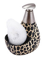 Дозатор для жидкого мыла с подставкой для губки 12601