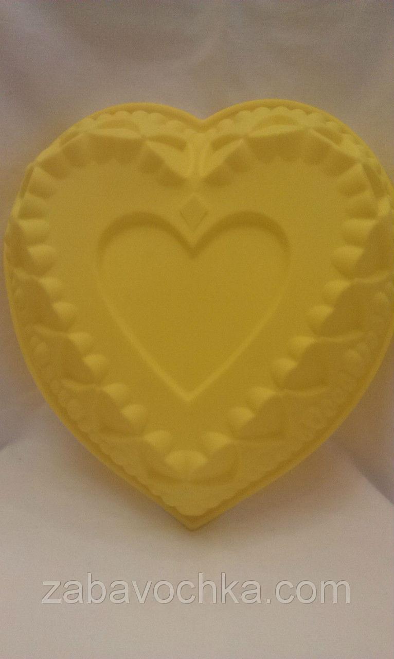"""Форма для выпечки """"Сердце"""", д-27 см., в-6 см., 103/93 (цена за 1 шт. + 10 гр.)"""