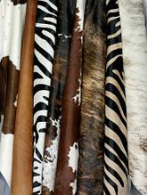 Шкури корів штучного забарвлення