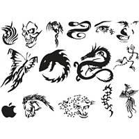Лист для временной (переводной) татуировки №2301