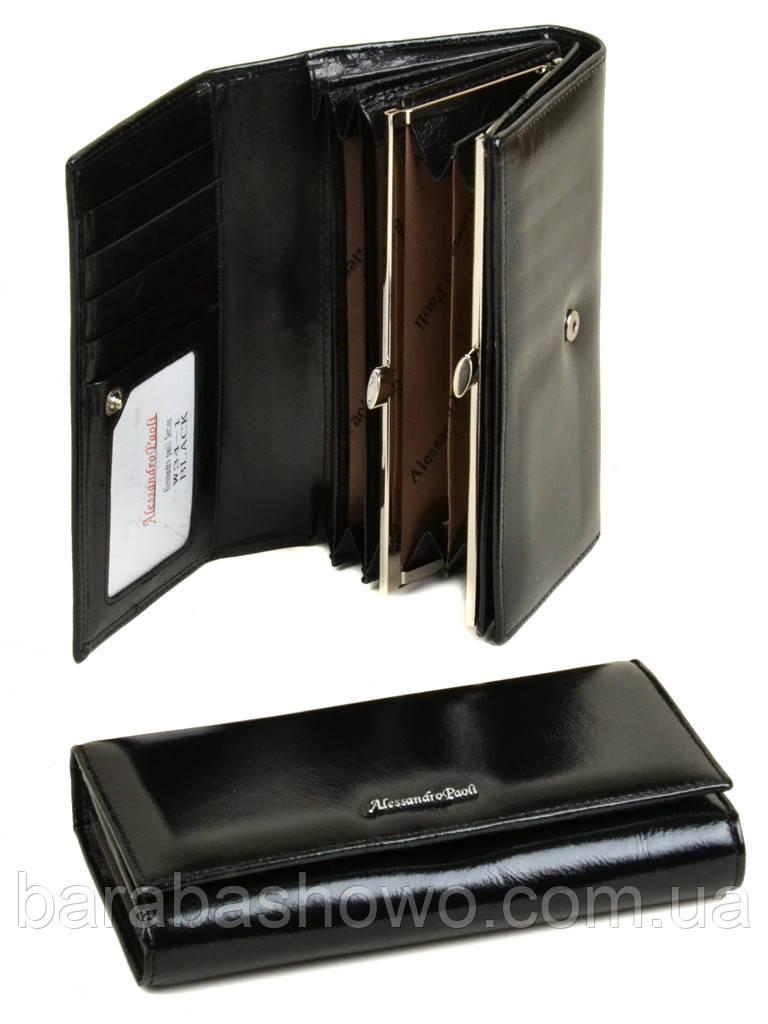 Кошелек ITA кожа Alessandro Paoli W34-1 black