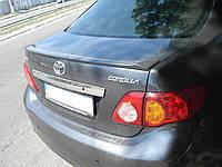 Спойлер лип багажника Toyota Corolla 2007-2012 стеклопластик под покраску