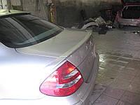 Спойлер лип багажника Mercedes-Benz E class W211 2003-2009 из трех частей (с заходом на крыло)