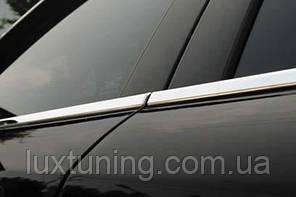 Молдинги окна нижние Mazda 3 2004-2009 Hb (нержавеющая сталь)