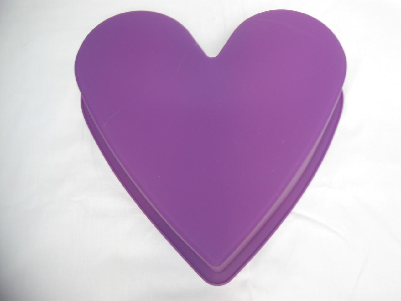 """Cиликоновая форма """"Сердце"""", 26х6,5 см., 115/105 (цена за 1 шт. + 10 гр.)"""