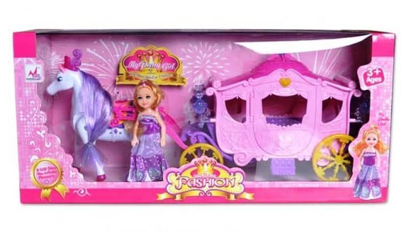 Карета с лошадью и куклой 05012