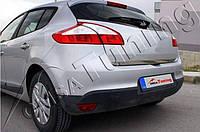 Хром накладка нижней кромки багажника Renault Megane III 2010-2013 (нержавеющая сталь)