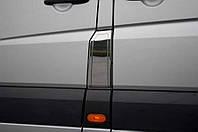 Хром накладка на лючок бака Mercedes-Benz Sprinter W906 2006-2013 (нержавеющая сталь)