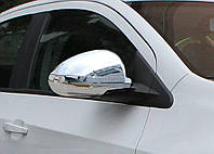 Накладки на зеркала Chevrolet Aveo T300 2011- пластик