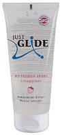 Клубничная смазка для орального секса Just Glide Strawberry 200 ml