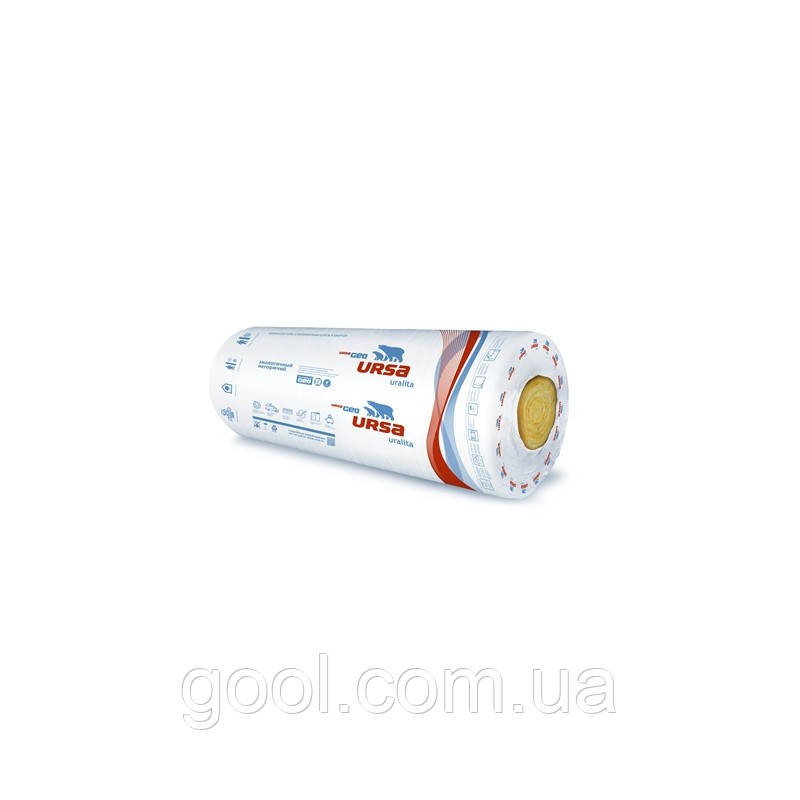 Минеральная вата URSA М-11 Light Теплозвукоизоляция размер 2х7000х1200х50 мм. в рулоне 16,8 м2