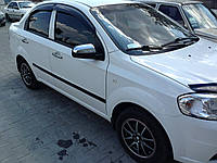 Хром накладки на зеркала Chevrolet Aveo T250 2006-2012 (нержавеющая сталь)