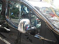Хром накладки на зеркала Citroen Berlingo / Peugeot Partner 2008-2011 хромированный пластик