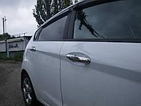 Накладки на ручки Ford Fiesta 2009- (нержавеющая сталь)