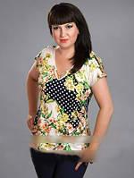 Летняя женская блуза с модным принтом