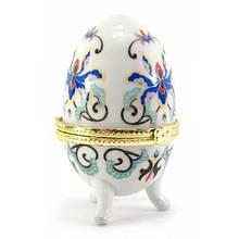 Скринька яйце з синім візерунком