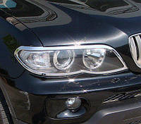 Хром накладки на фары Wellstar BMW X5 E53 2004-2006