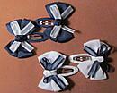Заколки тик-так с бантиками 6 см синие, фото 3