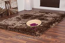 Килим высоковорсный коричневий