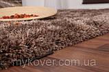 Ковер высоковорсный коричневый, фото 3