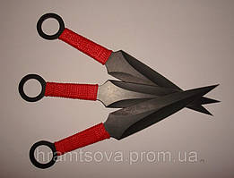 """Ножи метательные """"кунай""""- 3шт. набор в кобуре."""