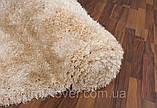 Килим высоковорсный пісочного кольору, фото 4