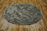 Килим высоковорсный сірого, алюмінієвого кольору, фото 2