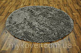 Ковер высоковорсный серого, алюминиевого цвета, фото 2