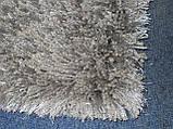 Ковер высоковорсный серого, алюминиевого цвета, фото 3